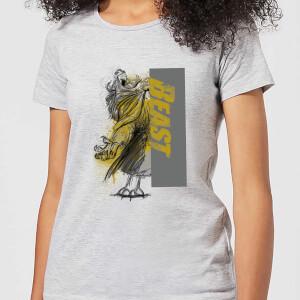 Disney Die Schöne und das Biest Rag Damen T-Shirt - Grau