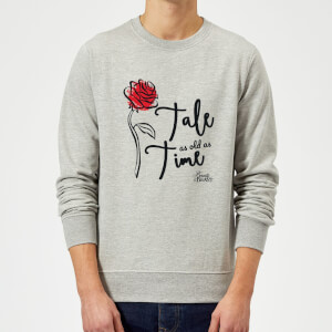 Disney Beauty And The Beast Tale As Old As Time Rose Sweatshirt - Grey