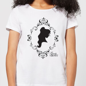 Disney Beauty And The Beast Belle Silhouette Women's T-Shirt - White