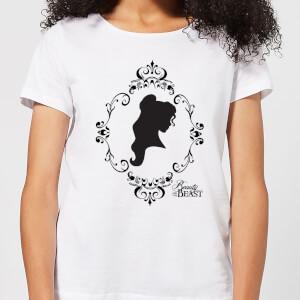 T-Shirt Femme Silhouette Belle - La Belle et la Bête (Disney) - Blanc