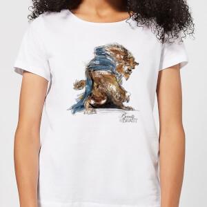 T-Shirt Femme Croquis - La Belle et la Bête (Disney) - Blanc
