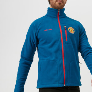 Columbia Men's Manchester United Fast Trek 2 Full Zip Fleece Jacket - Marine Blue