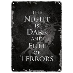 Game Of Thrones (Night Dark) Small Tin Sign