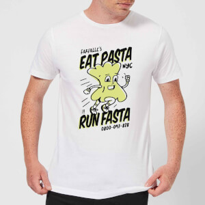 EAT PASTA RUN FASTA T-Shirt - White
