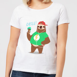 Sloth Chill Women's T-Shirt - White
