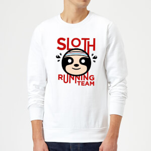 Sloth Running Team Sweatshirt - White