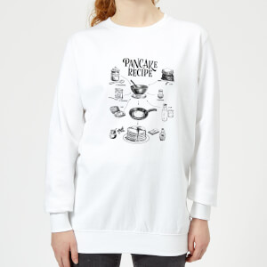 Pancake Recipe Women's Sweatshirt - White