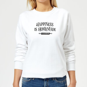 Happiness Is Homemade Women's Sweatshirt - White