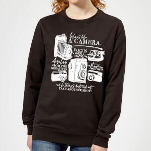 Life Is Like A Camera Women's Sweatshirt - Black