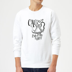Caution! I'm Hot Sweatshirt - White