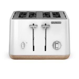 Morphy Richards Apect 4 Slice Toaster - White/Wood