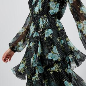 Zimmermann Women's Breeze Tiered Dress - Navy Poppy Floral: Image 4