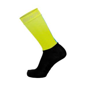 Santini Redux Aero Light High Socks - Yellow
