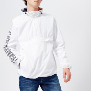 Tommy Jeans Men's Graphic Pullover Hooded Jacket - Classic White