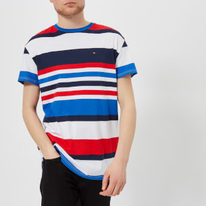 Tommy Jeans Men's Multi Stripe T-Shirt - Nautical Blue/Multi