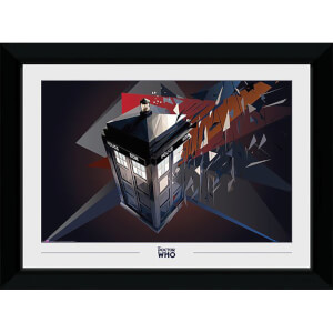 Doctor Who Fractil Tardis Collector's 50 x 70cm Framed Photograph