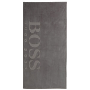 Hugo BOSS Carved Beach Towel - Grey