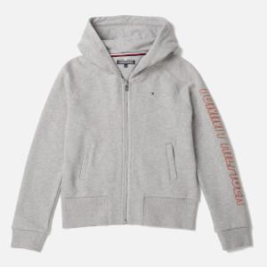Tommy Hilfiger Girls' Ame Big Logo Hoodie - Light Grey Heather