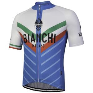 Bianchi Tiera Short Sleeve Jersey - Blue/White