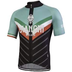 Bianchi Tiera Short Sleeve Jersey - Black/Celeste