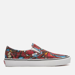 Vans Marvel Spider-Man Classic Slip-On Trainers - Spider-Man/Black