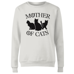 Mother Of Cats White Women's Sweatshirt - White