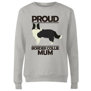 Proud BorderCollie Mum Women's Sweatshirt - Grey