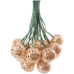 Elan Solar Copper Ball Lantern Fairy Lights