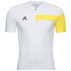 Le Coq Sportif Ultra Light Jersey - White/Yellow