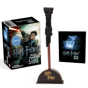 Harry Potter Wizards Wand with Sticker Book: Lights Up! (Hardback)
