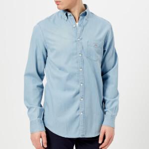 GANT Men's Indigo Regular Button Down Shirt - Indigo