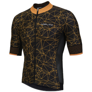 Nalini Naranco Short Sleeve Jersey - Black/Fluro Orange