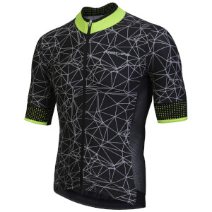 Nalini Naranco Short Sleeve Jersey - Black/Fluro Yellow