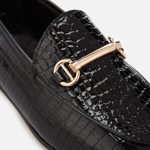 Dune Women's Guilt Leather Loafers - Black: Image 4