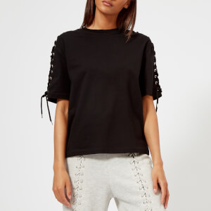 McQ Alexander McQueen Women's Laced Long Sleeve Top - Darkest Black
