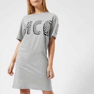 McQ Alexander McQueen Women's Slouchy Logo T-Shirt Dress - Mercury Melange