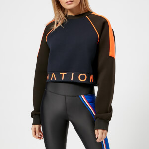P.E Nation Women's End Plate Cropped Sweatshirt - Navy