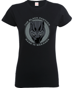 T-Shirt Black Panther Made in Wakanda - Nero - Donna