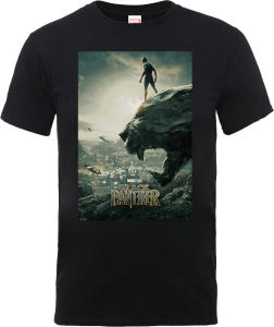 T-Shirt Black Panther Poster - Nero