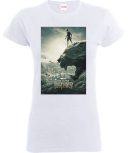 T-Shirt Black Panther Poster - Bianco - Donna