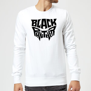 Black Panther Emblem Sweatshirt - White