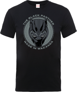 T-Shirt Black Panther Made in Wakanda - Nero