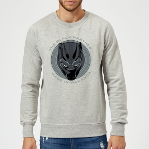 Black Panther Made in Wakanda Sweatshirt - Grey