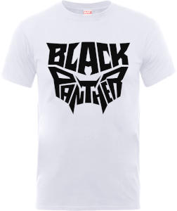 Black Panther Emblem T-Shirt - Weiß