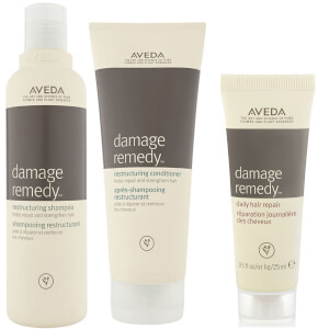 Aveda Damage Remedy Restructuring Shampoo and Conditioner Duo with Daily Hair Repair Sample -shampoo ja hoitoaine + näyte