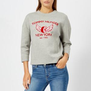 Tommy Hilfiger Women's Abian Crew Neck Sweatshirt - Grey