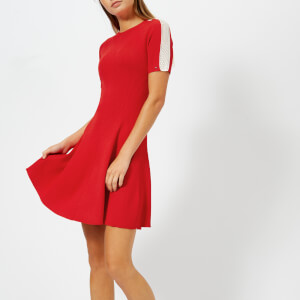 Tommy Hilfiger Women's Rayana Crew Neck Dress - Red