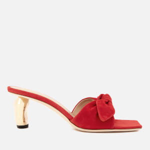 Rejina Pyo Women's Lottie Ribbon Heeled Mule Sandals - Red/Gold