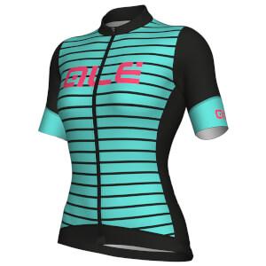 Alé Women's R-EV1 Marina Jersey - Black/Turquoise