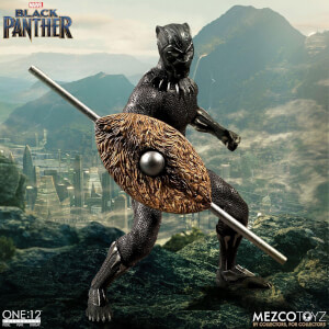 Figurine d'Action Black Panther Mezco One : 12 Collective Marvel